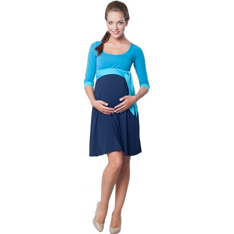 Nataly Blue - Těhotenské šaty 08919eb794c