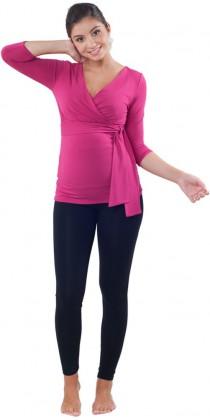 Těhotenská trička & mikiny & legíny - Lisa Magenta