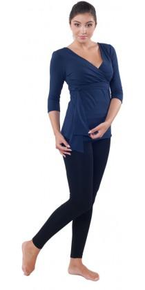 Těhotenská trička & legíny - Lisa Navy