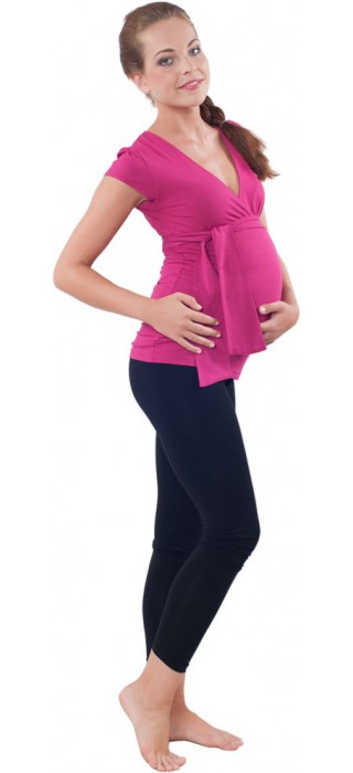 Těhotenská trička & bolerka & legíny - Ellie Magenta