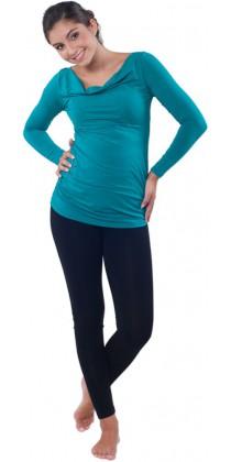Těhotenská trička & mikiny & legíny - Simone Emerald Green