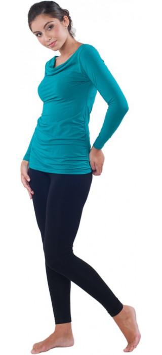 Těhotenská trička & bolerka & legíny - Simone Emerald Green