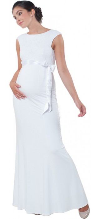 Těhotenské svatební šaty - White Goddess