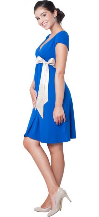 Těhotenské šaty - Annie Royal Blue