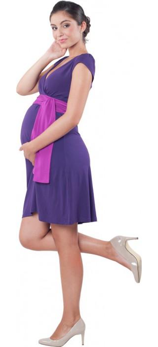 Těhotenské šaty - Annie Purple