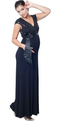 e3d72c10ca2 ... Těhotenské šaty - MEGHEN TWILIGHT BLACK Long