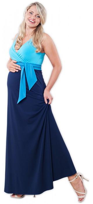 Těhotenské šaty - Madeline Blue Long