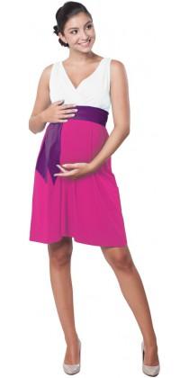 Těhotenské šaty - Madeline Lilac