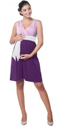 Těhotenské šaty - Madeline Purple