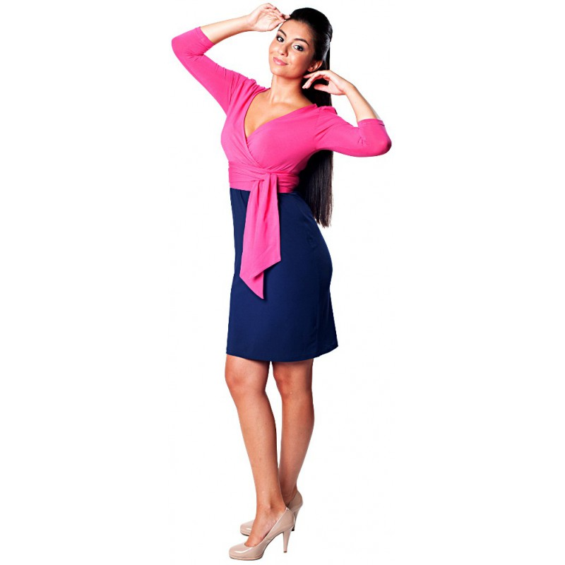 ... Těhotenské šaty - Danielle True Pink ... b7cb5755d6