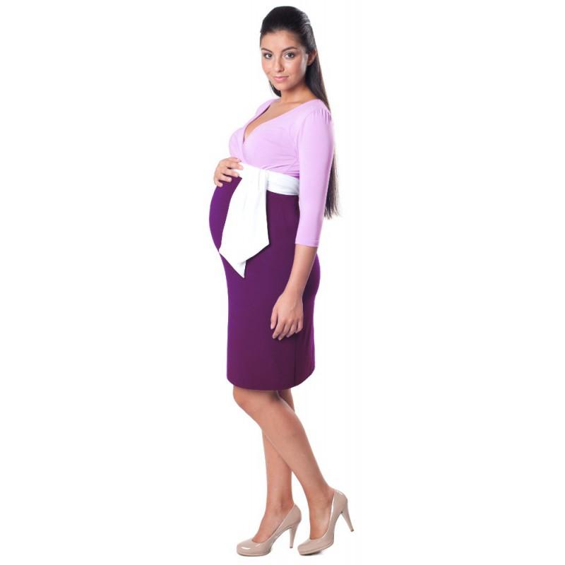 Těhotenské šaty Danielle Lavender   Purple a2d6364ceb