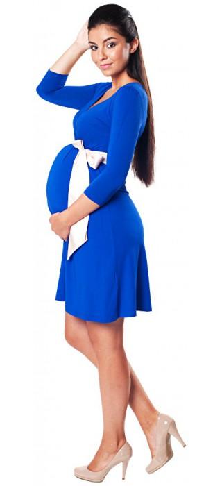 Těhotenské šaty - Catherine Royal Blue