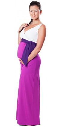 Těhotenské šaty - Madeline Lilac Long