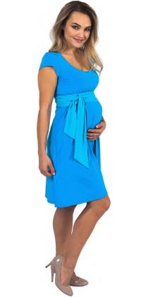 Těhotenské šaty - Adele Sky Blue
