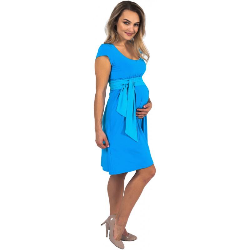 243a5c573e61 Těhotenské šaty a kojící šaty Adele Sky Blue