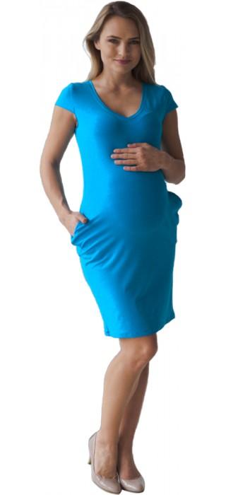 Těhotenské šaty - Tanya Sky Blue