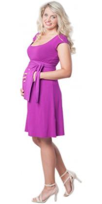 Těhotenské šaty - Adele Lilac