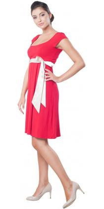 Těhotenské šaty - Adele Red