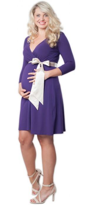 Těhotenské šaty - Catherine Purple