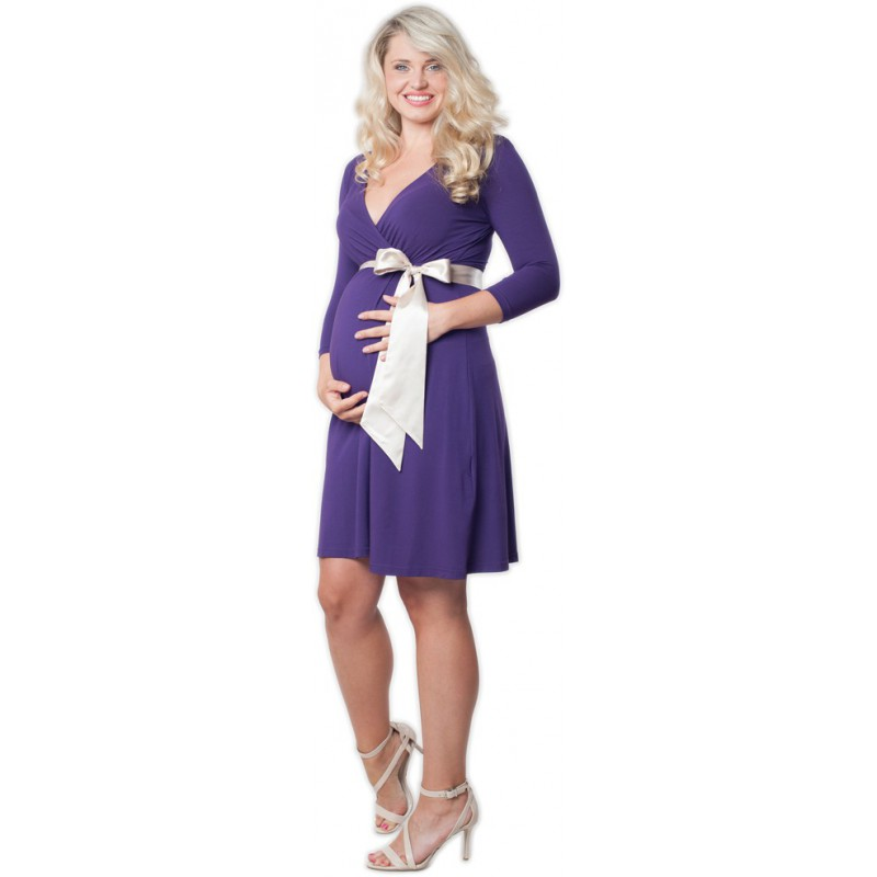 515ff285087 Těhotenské šaty - Catherine Purple ...
