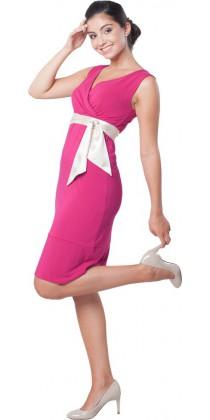 Těhotenské šaty - Meghen Magenta