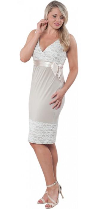 Těhotenské šaty - Meghen Champagne Beige