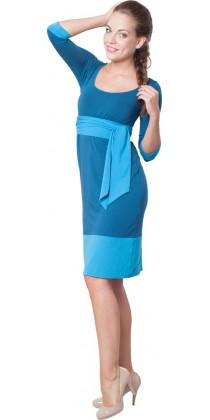Těhotenské šaty - Andrea Petroleum Blue